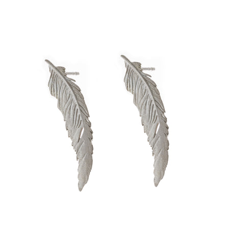 Amoc-Large-Stud-Silver-Earrings