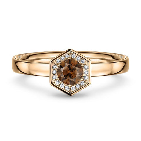 Andrew Geoghegan 18ct Rose Gold 'Chapiteau' Chocolate Diamond Ring