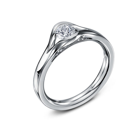 Andrew Geoghegan 18ct White Gold Revel Diamond Ring
