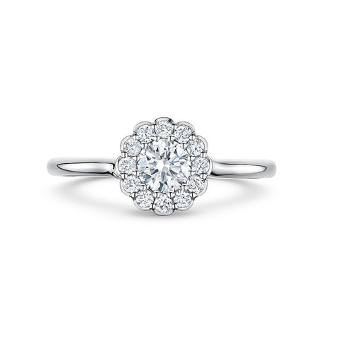 Andrew Geoghegan Cannele Twist  Platinum Diamond Ring