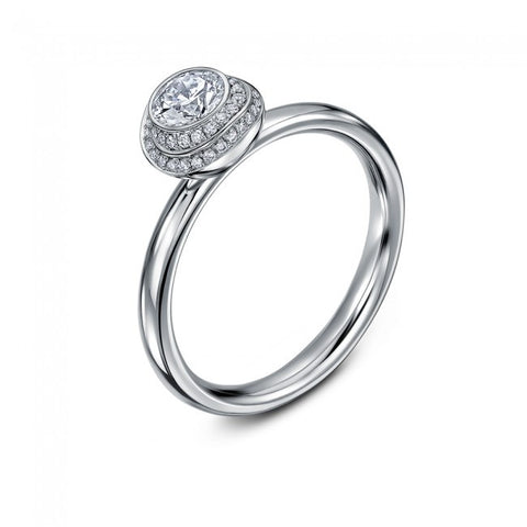 Andrew Geoghegan 'Clair de Lune' Platinum Diamond Ring
