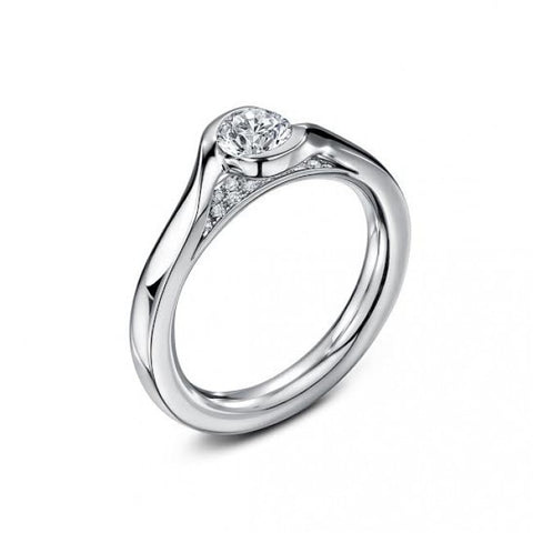 Andrew Geoghegan Embrace 18ct White Gold Diamond Ring