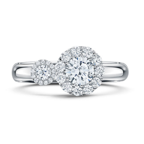 Andrew Geoghegan Platinum Satellite Diamond Ring