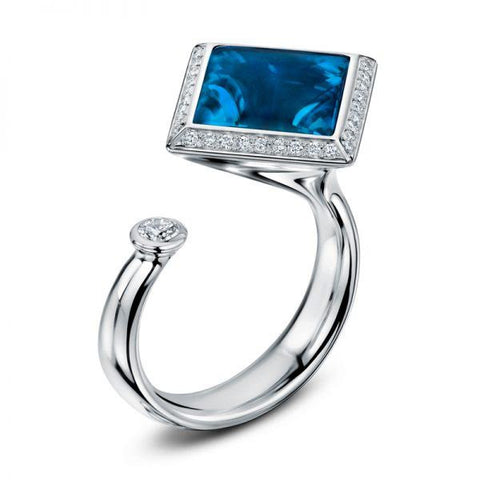 Andrew Geoghegan Satellite '2' London 18ct White Gold Ring
