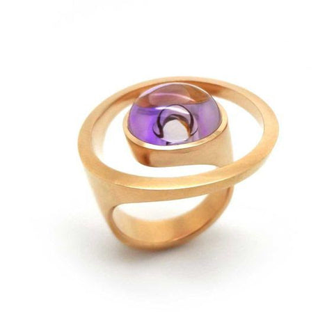 Angela Hubel Amethyst 'Magic Sunshine' 18ct Rose Gold Ring