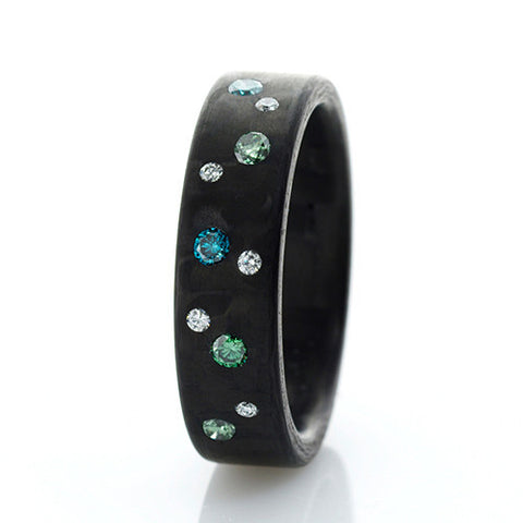 Anne Cohen C6 Ocean Diamond Ring