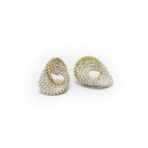 Atelier Luz 18ct Yellow Gold Bubble Silver Earrings