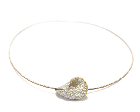Atelier Luz 18ct Yellow Gold Medium Bubble Silver Necklace