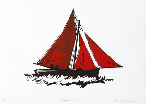 Bernadette Madden 'Happy Sailing' Limited Edition Screenprint