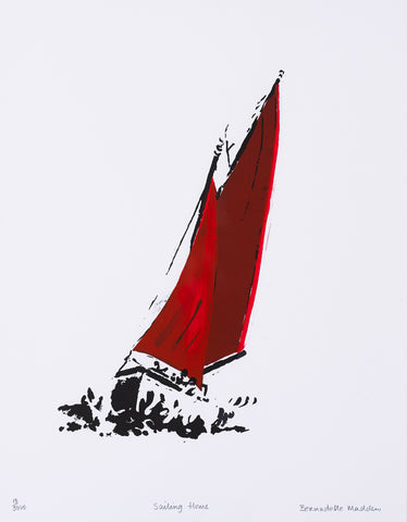 Bernadette Madden 'Sailing Home' Limited Edition Screenprint