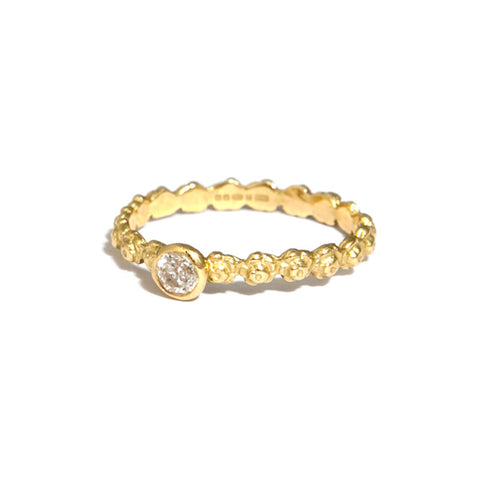 Beth Gilmour Rose 18ct Yellow Gold Diamond Ring