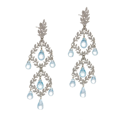 Beth Gilmour Blue Topaz Silver Earrings