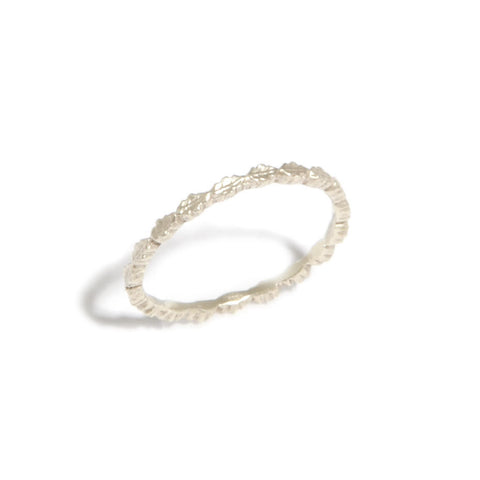 Beth Gilmour Leaves 9ct White Gold Ring