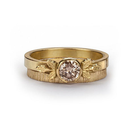 Beth Gilmour 18ct Yellow Gold Champagne Diamond Ring