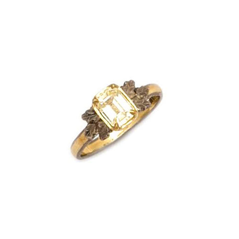 Beth Gilmour Yellow Sapphire 18ct White and Yellow Gold Ring