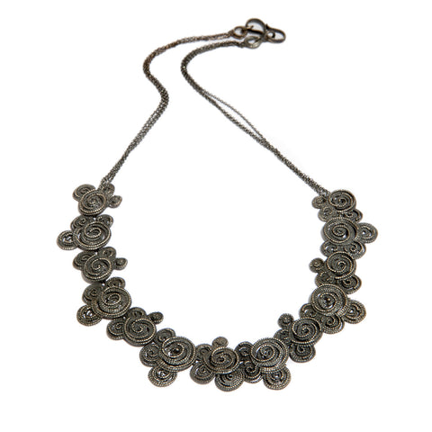 Beth Gilmour 'Clouds' Oxidised Silver Necklace