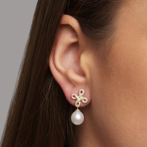 Brigitte Adolph Dame Pearl Drop Earrings
