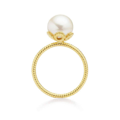'Frau Luna' Pearl 18ct Yellow Gold Ring