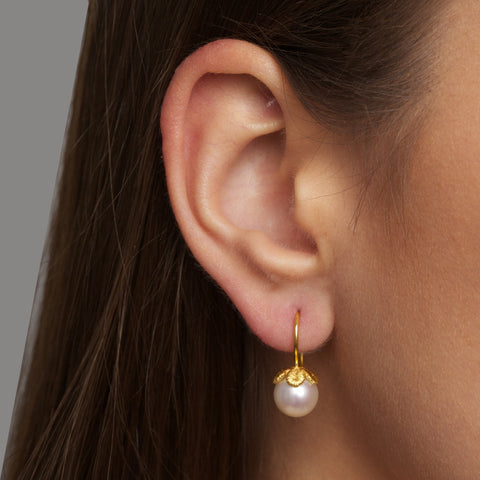 Brigitte Adolph 'Frau Luna' Pearl 18ct Yellow Gold Earrings