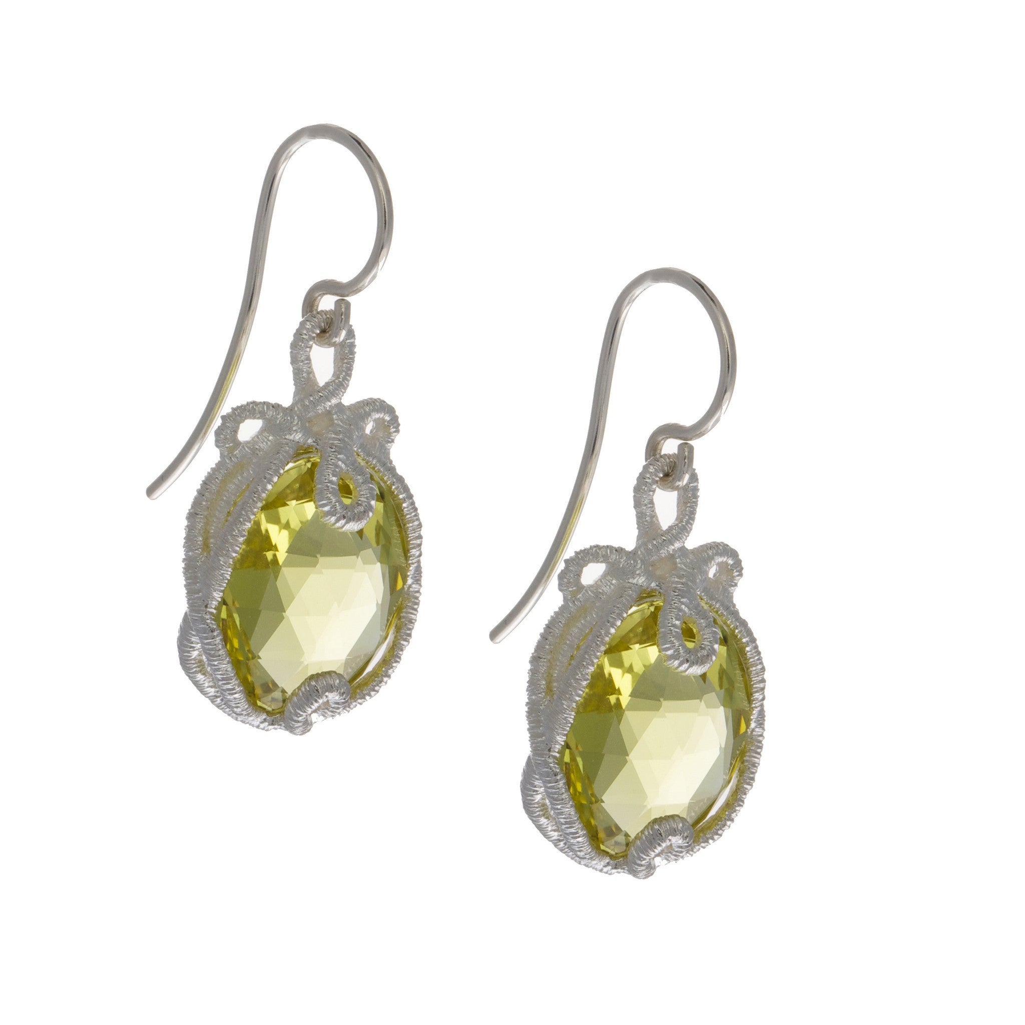 ellu lemon products earrings citrine silver amour