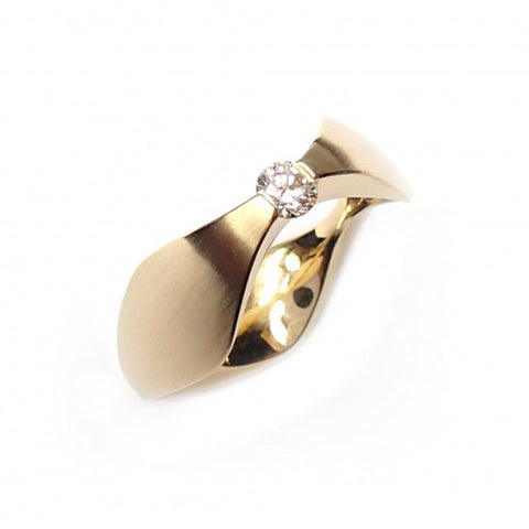 Cardillac Trio 14ct Rose Gold Diamond Ring