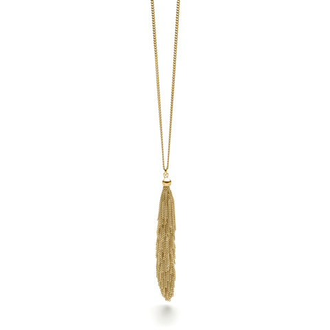 Claudia Milic Collier Single Kette Yellow Gold Plated Silver Necklace