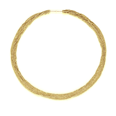 Claudia Milic Collier Small Gold Plated Silver Necklace