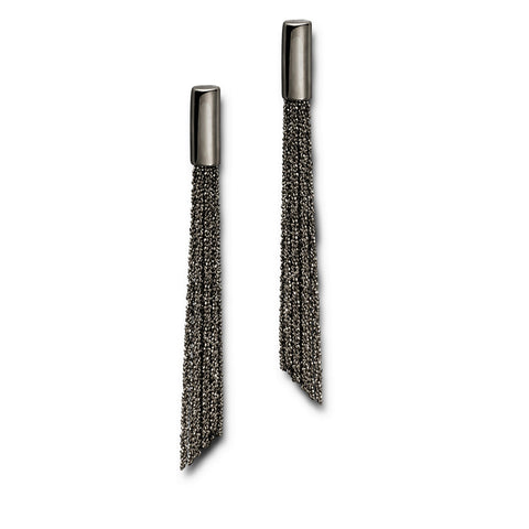 Claudia Milic Shine Black Rhodanized Silver Earrings