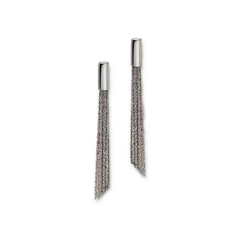 Claudia Milic Shine Rhodium Plated Silver Earrings