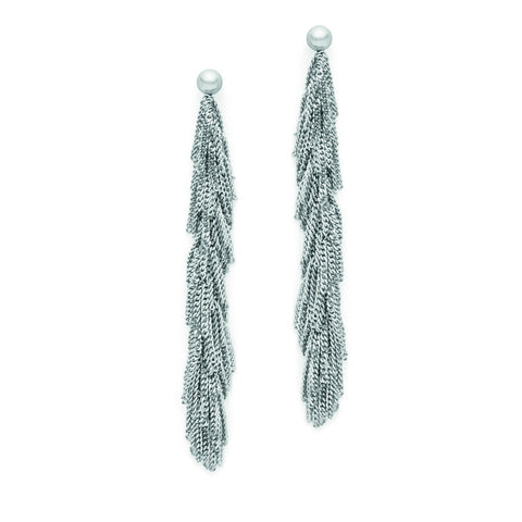 Claudia Milic Silver Tassel Earrings