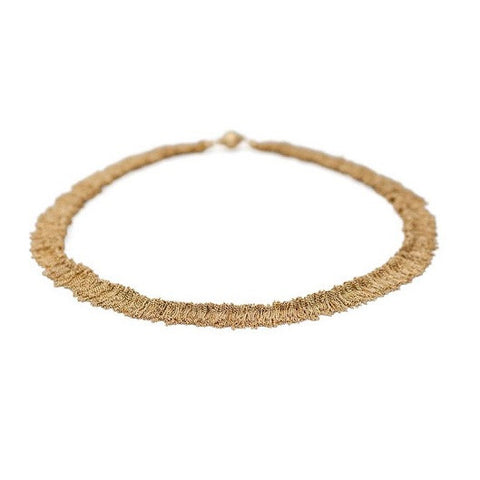 Claudia Milic Siara Yellow Gold Plated Silver Necklace