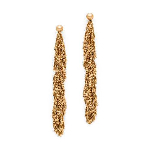 Claudia Milic 'Siara' Gold Plated Silver Earrings