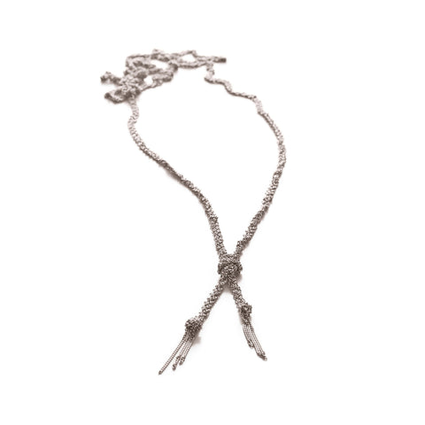 Claudia Milic Twist Silver Necklace