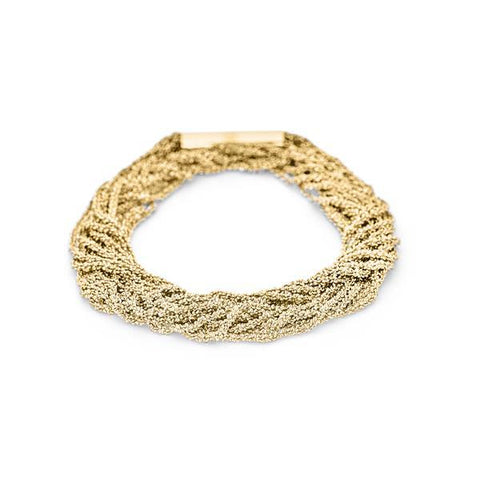 Claudia Milic 'Shine' Twisted Gold Plated Silver Bracelet