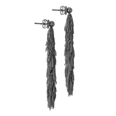Claudia Milic 'Siara' Black Rhodanized Silver Earrings
