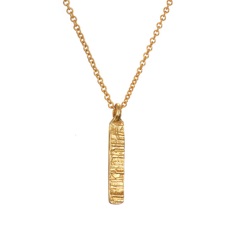 Loinnir Jewellery 'The Burren' Drop 9ct Yellow Gold Necklace