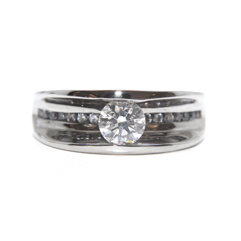 Da Capo 'Flow' 18ct White Gold Diamond Ring