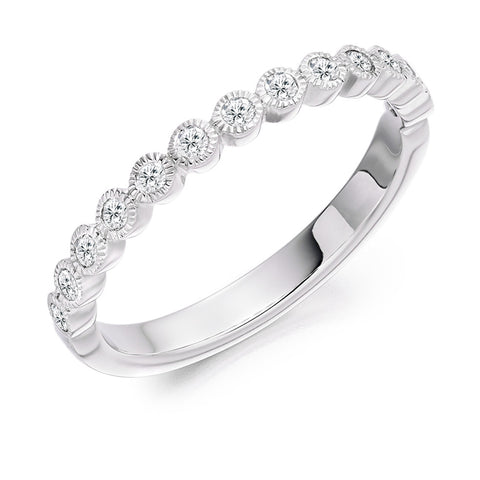 Milgrain 18ct White Gold Diamond Ring