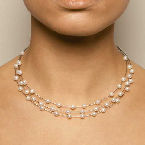 Parsprototo Luna No. 3 Stainless Steel Freshwater Pearl Necklace