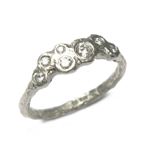 Diana Porter 18ct White Gold 7 Diamond Ring