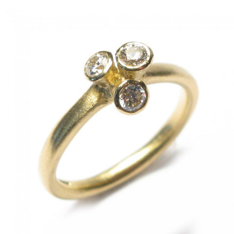 Diana Porter 18ct Yellow Gold 3 Diamond Ring