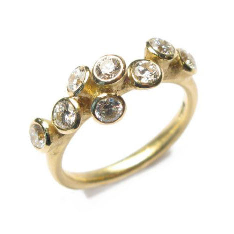 Diana Porter 18ct Yellow Gold 8 Diamond Ring