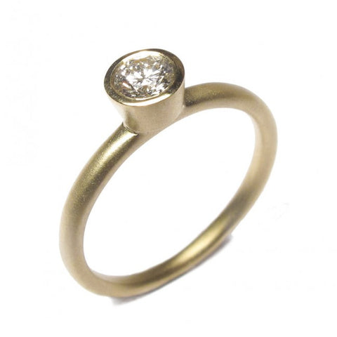 Diana Porter 9ct Yellow Gold Champagne Diamond Ring