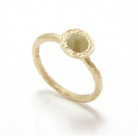 Diana Porter 9ct Yellow Gold Rose Cut Natural Diamond Ring