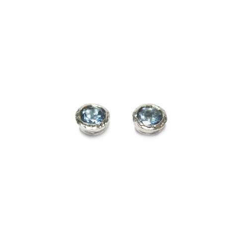 Diana Porter Aquamarine Silver Earrings