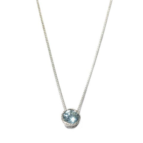 Diana Porter Aquamarine Silver Necklace