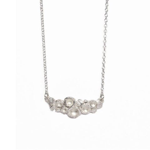 Diana Porter Emerge Bud Silver Necklace