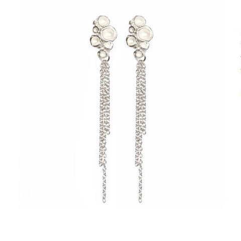Diana Porter Emerge Chain Drop Silver Earrings