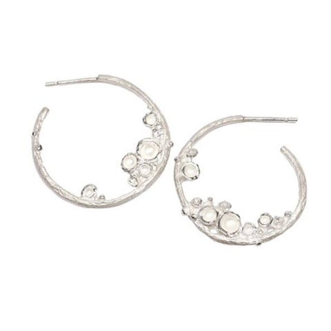 Diana Porter Emerge Hoop Silver Earrings