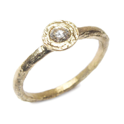 Diana Porter Flat 18ct Yellow Gold Diamond Ring
